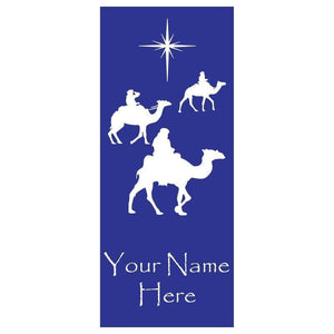 personalized Three Wise Men Banner