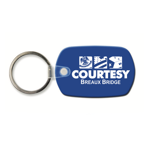 Custom Standard Oval Vinyl Key Tag