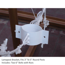Load image into Gallery viewer, 6' Tear Drop Snowflake - Lamp Post Decoration