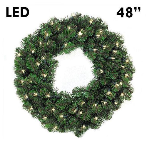 LED Pine Lit Christmas Wreath - 48