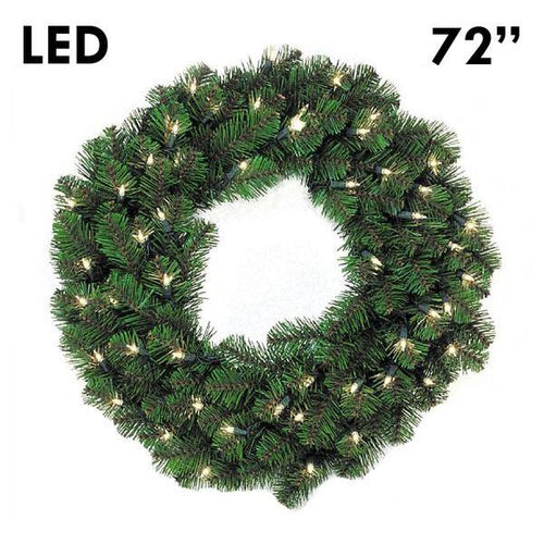 LED Pine Lit Christmas Wreath - 72