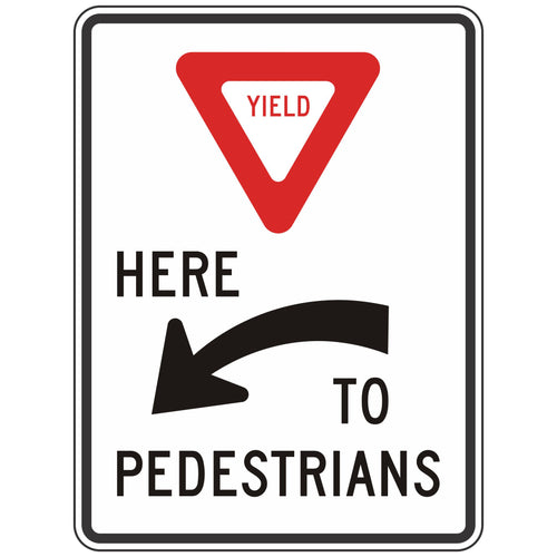 R1-5AL Yield Here to Pedestrians Sign