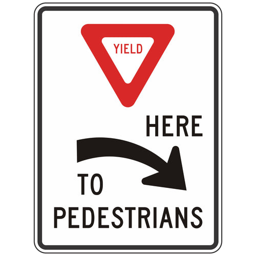 R1-5AR Yield Here to Pedestrians Sign