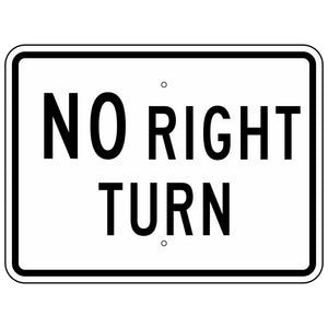 R3-1P NO Right Turn Sign