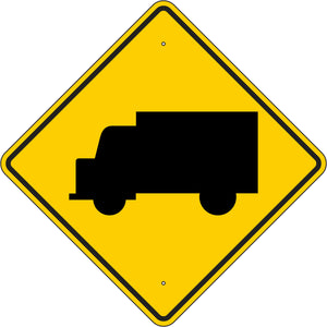 W11-10 Truck Crossing Sign
