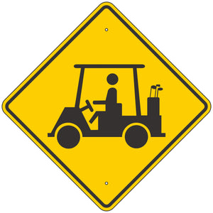 W11-11 Golf Cart Crossing Sign