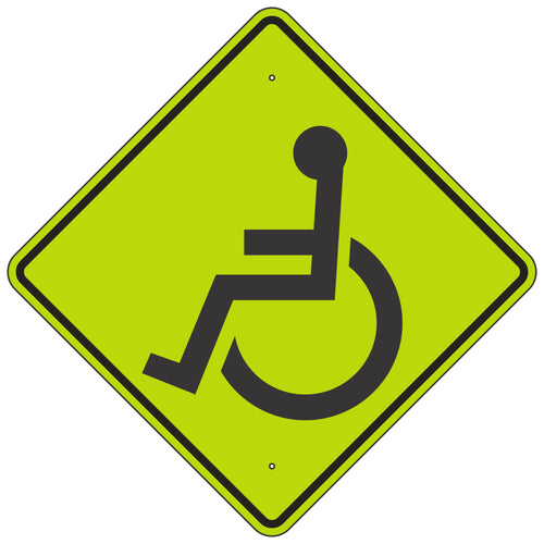 W11-9 Handicapped FYG Sign