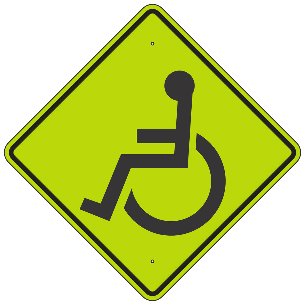 W11-9 Handicap Symbol Sign
