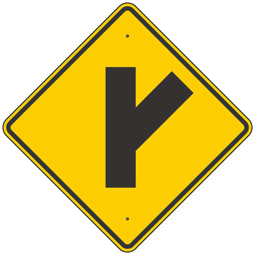 W2-3R Intersection Warning Sign