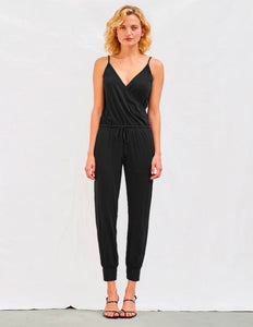 Sundry Wrap Jumpsuit Black