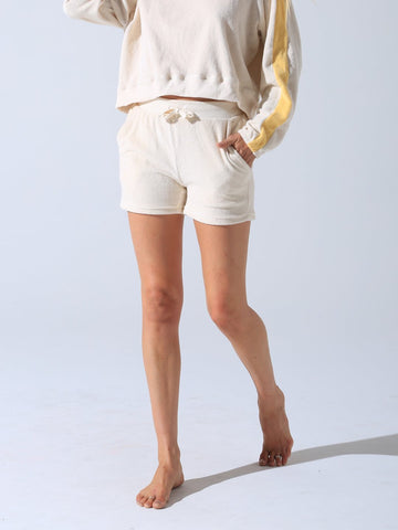 Electric & Rose Saville Terry Short - Off White
