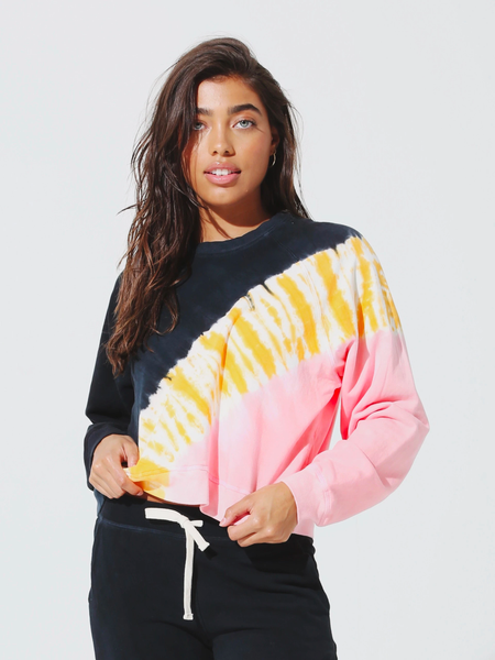 Electric & Rose Ronan Pullover Poppy Pink/Marigold