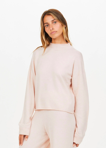The Upside Lounge Knit Sweater Pink