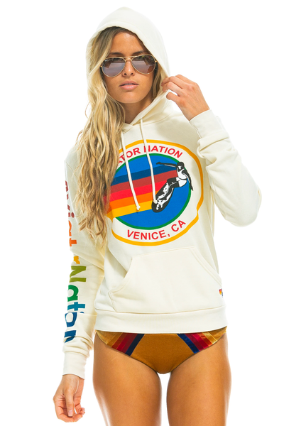 Aviator Nation Pullover Hoodie Vintage White