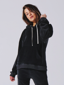 Electric & Rose Mateo Hoodie Velour Onyx