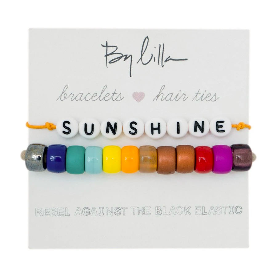 By Lilla Bracelet Hair Ties - SUNSHINE