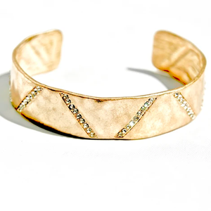 Deux Amies Alloy Cuff with Crystals