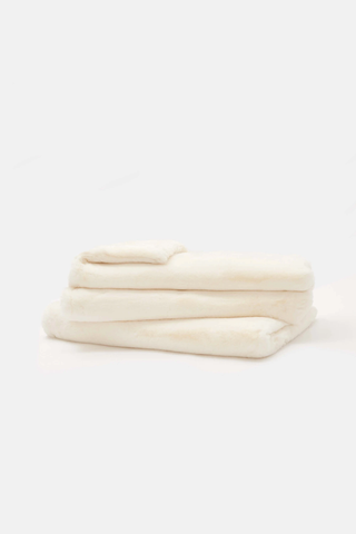 Apparis - Brady Faux Fur Blanket Ivory