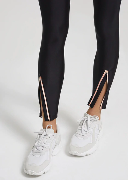PE Nation Steady Run Legging Black with Zipper