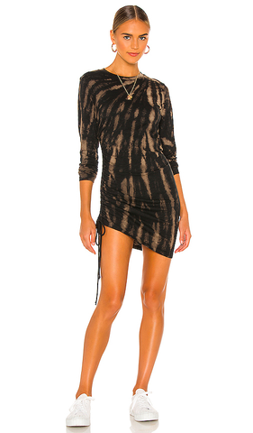 Pam and Gela Tie Dye Twisted Long Sleeve Dress