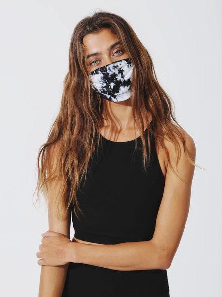 Electric & Rose Tie dye Face Mask - Onyx/Cloud