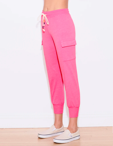 Sundry Cargo Sweatpants Fuschia