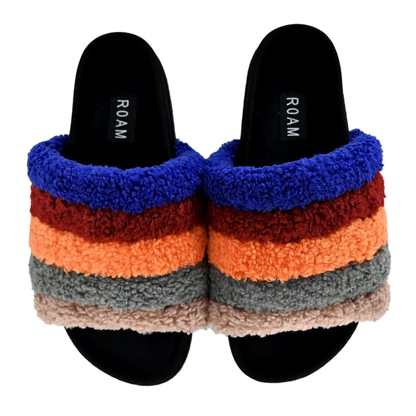 Roam Shoes - Fuzzy Rainbow Slides