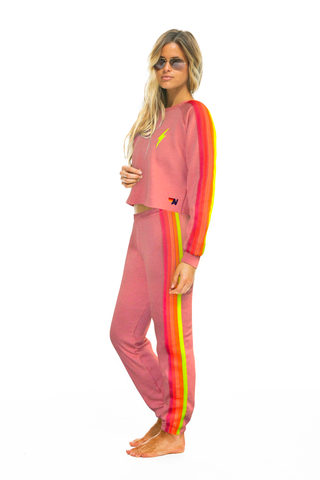 Aviator Nation 5 Stripe Petal Neon Sweatpants