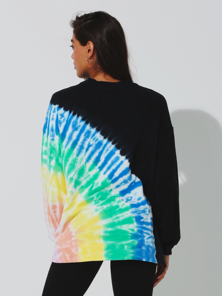 Electric & Rose Neil Sweatshirt - Beam Rainbow in Onyx