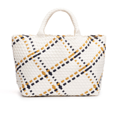 Naghedi Trunk Show - St Barth's Small Tote - Various Colors: Onyx, Oyster, Limoncello, Sunset