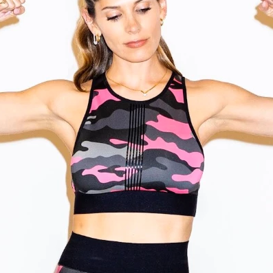 Ultracor Altitude Neon Camo Crop Top