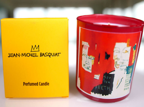 Basquiat Red Candle