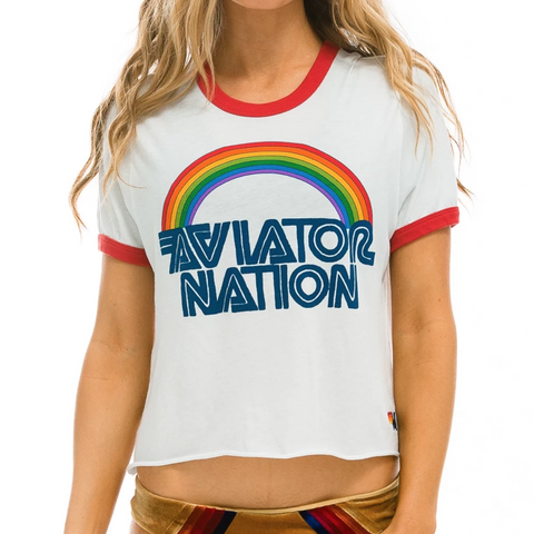Aviator Nation Boyfriend Ringer Tee