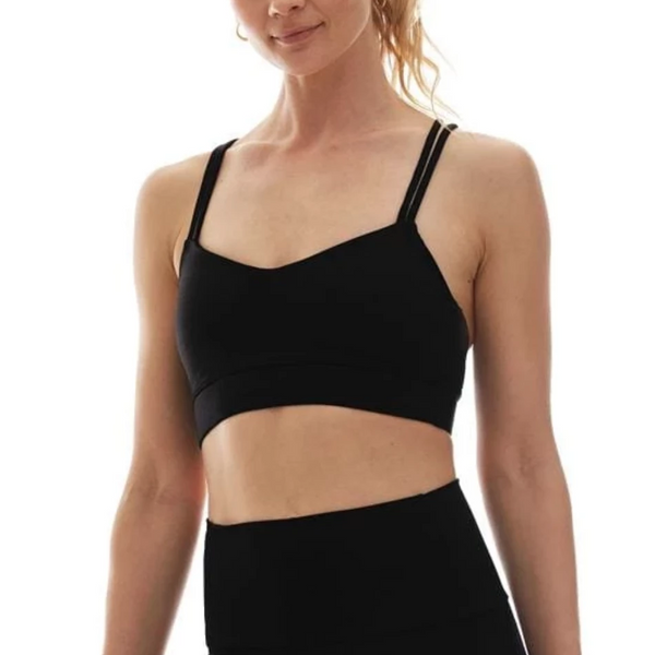 K Deer Criss Cross Sports Bra Black
