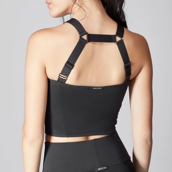 Michi Vibe Crop Top Black
