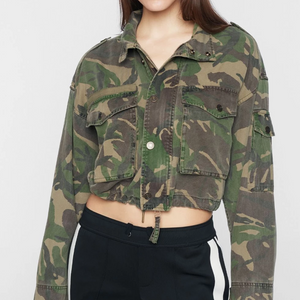 Pam & Gela Crop Camo Jacket