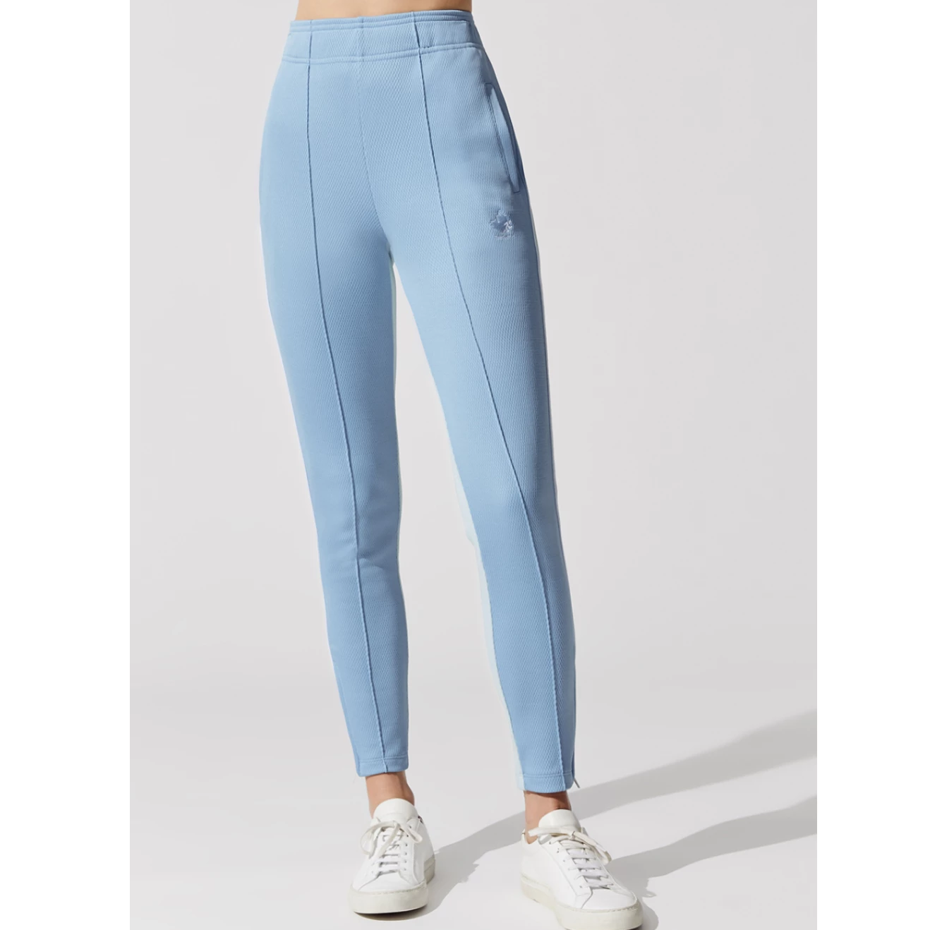 Twenty Blue Knit Ankle Zip Track Pant