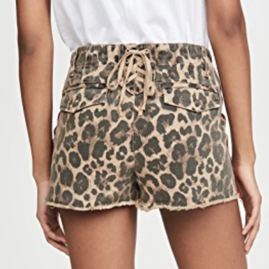 Pam & Gela Leopard Lace up Short