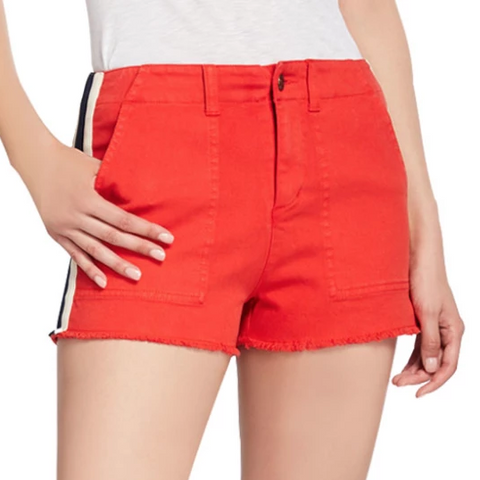 Pam & Gela Red Lace up Short