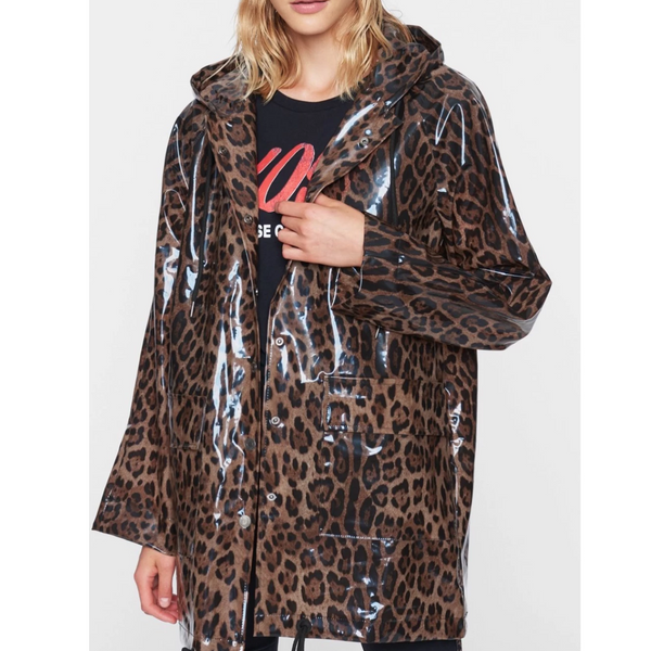 Pam & Gela Clear Leopard Raincoat