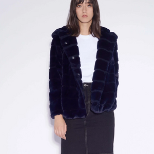 Apparis Goldie Navy Coat