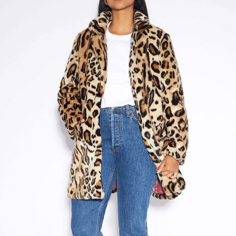 Apparis Margot Coat Leopard