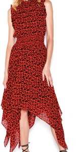 Sen Collection JAEL Ruffled Animal Print Dress
