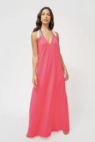 Pitusa Solid Halter Dress