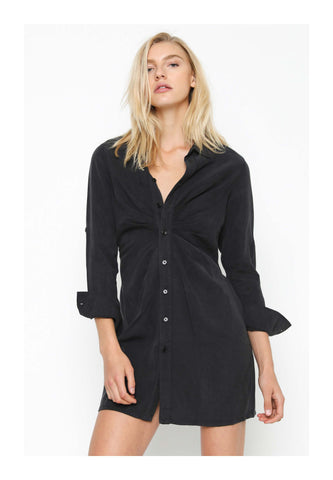 Pam & Gela Shirt Dress Washed Black