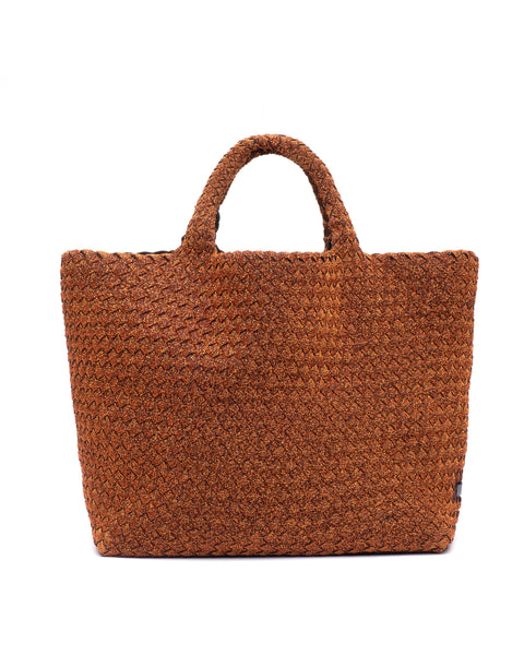 Naghedi St Barth's Small Tote Spiced Amber Lurex