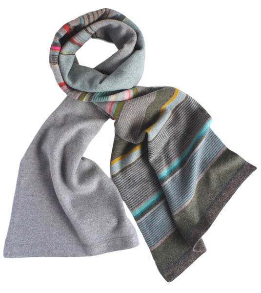 Quince Stripe Wide Scarf