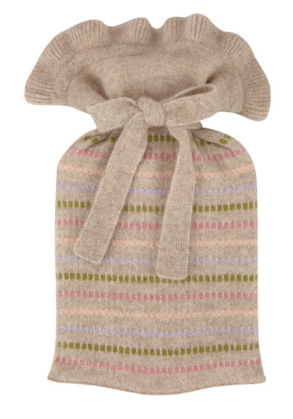 biscuit grid stripe mini hot water bottle
