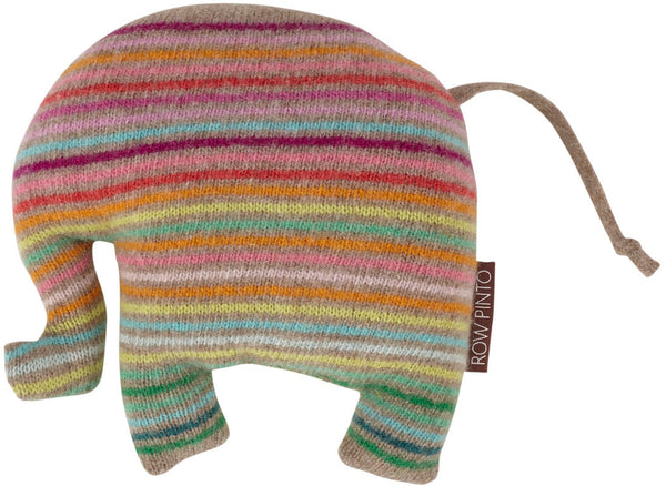 Rainbow Lavender Ernie Elephant Dark Natural