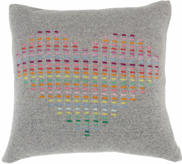 Flannel Grey Rainbow Heart